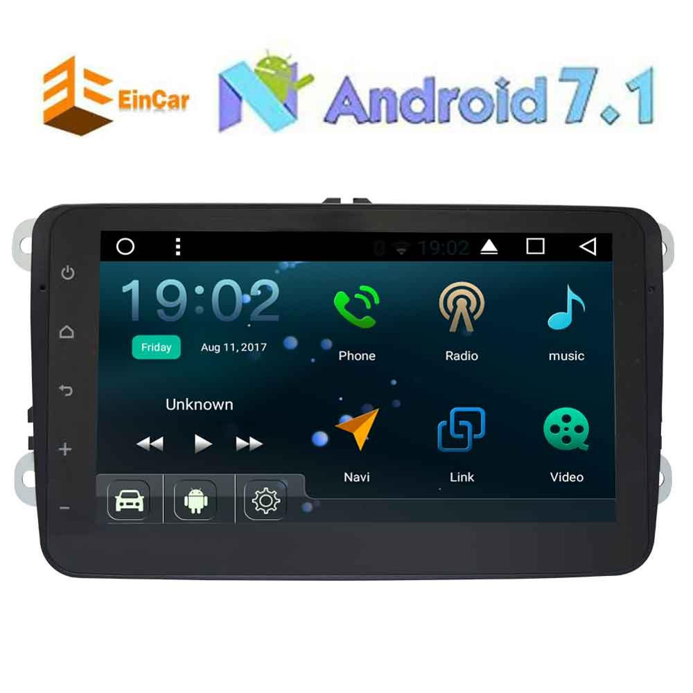 GPS Navigation for Car Stereo 2Din Bluetooth Capacitive screen Android 7.1 GPS for VW Jetta Golf Passat Polo FM Video/WIF/Canbus