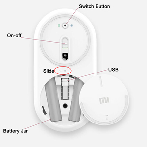Image 4 - Xiaomi Drahtlose Maus Tragbare Bluetooth 4,0 Aluminium Legierung ABS Material Gaming Maus RF 2,4 GHz Dual Modus Verbinden Mi 1200DPI