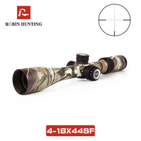 4 16X44SF Riflescope Tratical Hunting For Air Gun Optics Side Parallax Hunting Scopes Green Glass Cotaed Camouflage Rifle Scopes