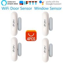 4 шт./лот Coolcam NEO WiFi умный датчик двери датчик окна приложение уведомления оповещения безопасная домашняя дверь/оконный детектор