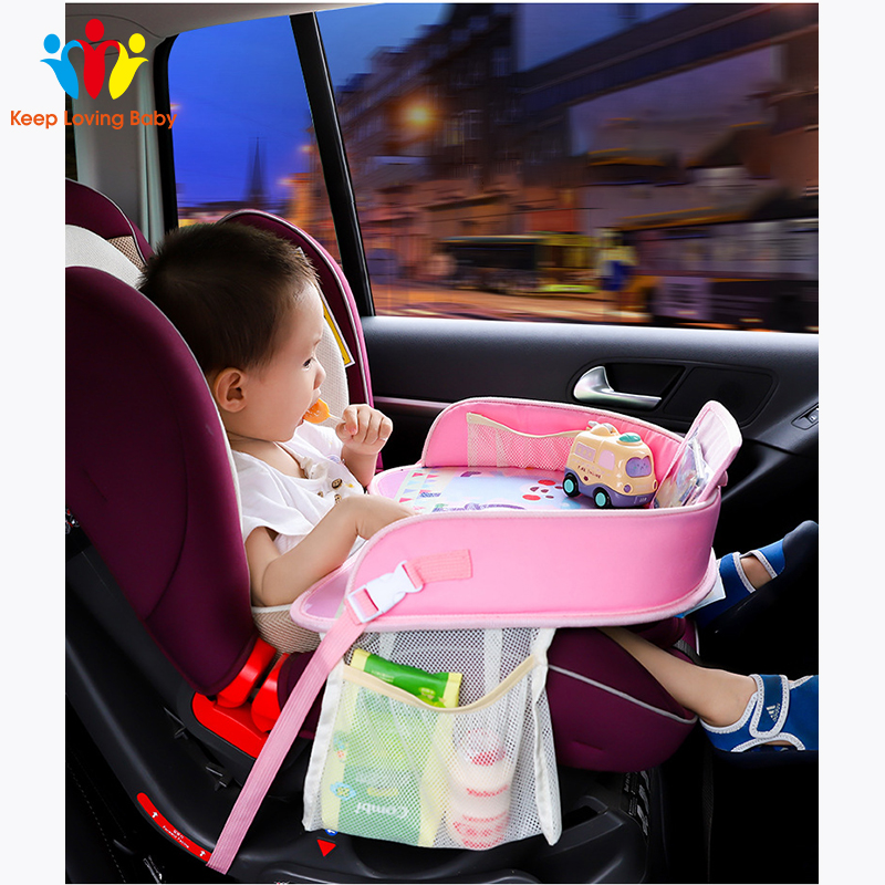 Baby Children Portable Table For Car Baby Stroller Holder Food Desk Waterproof New Child Table Car Seat Tray Storage Kids Toy