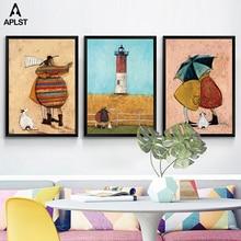 Семья счастье плакаты и принты детская лучшие друзья рисунок Холст Живопись Дети настенные художественные картины для детей гостиная