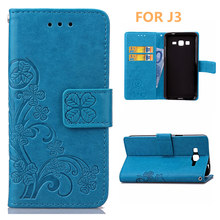 Luxury PU leather phone case for Samsung Galaxy J3 (5 inch)/ Samsung Galaxy J3 (2016) With Card Holder Cover 6 color choices