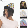 Zohra Funny Emoji 3D Graphic Full Print Hats Winter Women Unisex Beanie Hat Bobble Cuffed Hats Knit Wool Cap Baggy Warm Caps