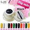 3 Pcs Set Lvmay Brand Painting Gel Drawing Black Colour Nail Polish Professional DIY Art Gel