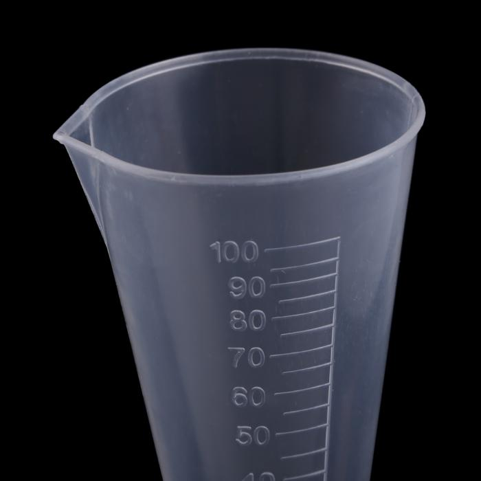 Neueste Konischen Absolvent Kunststoff Messbecher 100 ml Runde Basis ...