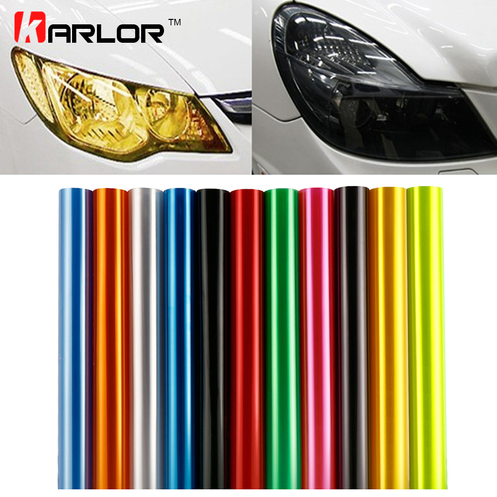 30cm x 100cm Auto Car Tint Headlight Taillight Fog Light Vinyl Smoke Film Sheet Sticker Cover 12inch x 40inch Car styling light tint