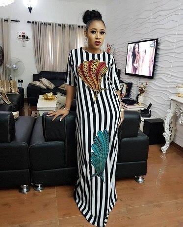 Aliexpress.com : Buy Feather Print Casual Plus Size Dress Women ...