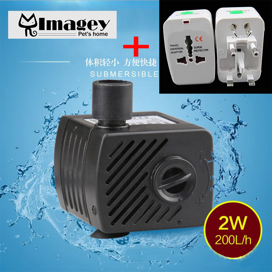 imagey high quality mini aquarium submersible air water pump fish tank pond fountain fit for all. Black Bedroom Furniture Sets. Home Design Ideas