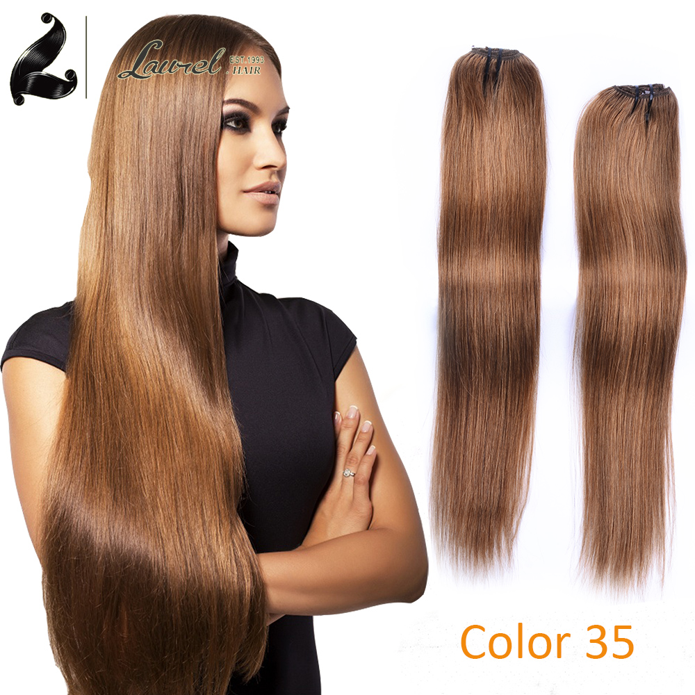 Top Clip In Human Hair Extensions 1 Piece 100g 16 18 20 22 24 Inches Color 35 Available Brazilian Human Real Hair Straight On Aliexpress