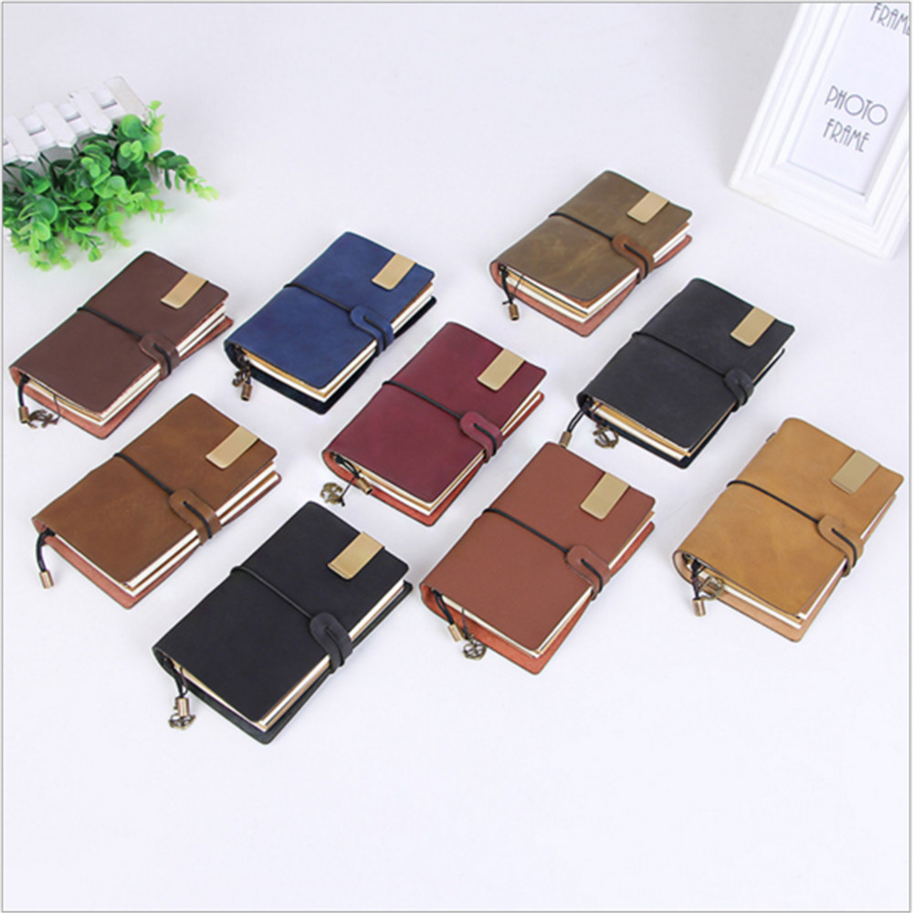 2017 Quality Leather Cover Travelers Notebook Diaries Magazine Retro Handmade Leather Gifts Travel Notebooks Writin Pads