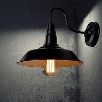 Modern Wall Light E27 Edison Lâmpada Lâmpada de iluminação da lâmpada de parede retro indústria Vinta para Bar Café Casa de Iluminação