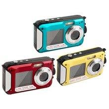 Digital Camera Waterproof 2.7inch TFT 24MP MAX 1080P Double Screen 16x Digital Zoom Camcord
