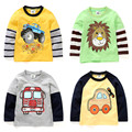 2017 spring and autumn boys t-shirt baby boys long sleeve shirt boys clothes child cartoon casual t-shirt boys tops zc