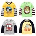 2017 spring and autumn boys t-shirt baby boys long sleeve shirt boys clothes child cartoon casual t-shirt boys tops zc
