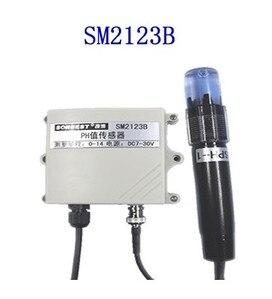 FREE SHIPPING SM2123B RS485 industrial grade online pH sensor glass probe