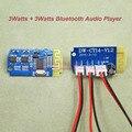 1 pçs/lote 3 W + 3 W Amplificador de Potência de Áudio Player Bluetooth 3 V ~ 5 V Tensão de Alimentação Dupla 8002 Módulo PCB Placa de Amplificador de Potência de Áudio