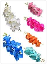 5pcs Moth Orchids 8 heads Long Stem Phalaenopsis Orchid for Wedding Centerpieces Decorative Artificial Flowers