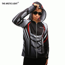 THE ARCTIC LIGHT Shirts Fishing Clothing Breathable Sunscreen Men Quick Drying SPF 50+Face&body  Long Sleeve Hooded