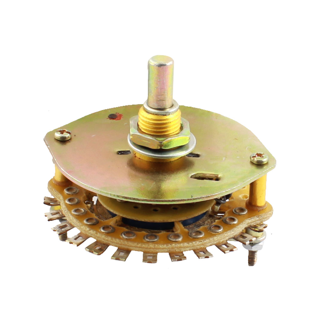 UXCELL 1P12t 1 Deck 12 Position 12 Way Band Channel Selector Electric Rotary Switch uxcell kcx2 6 10mm mounting hole dia 2p6t 2 pole 5 way two decks 14pin band channael rotary switch selector