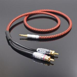 Image 2 - Monsterprolink Standaard 100 Stereo 3.5Mm Naar 2RCA Audio Y Kabel Rood Voor MP3 Cd Dvd Tv Pc Audiophile Kabel gratis Verzending