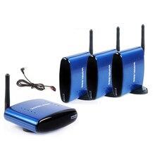 HBUDS 5.8 GHz 200 M AV Sender TV Áudio Vídeo Sem Fio 1 Transmissor 3 Receptor Com IR Remoto PAT-530 Azul