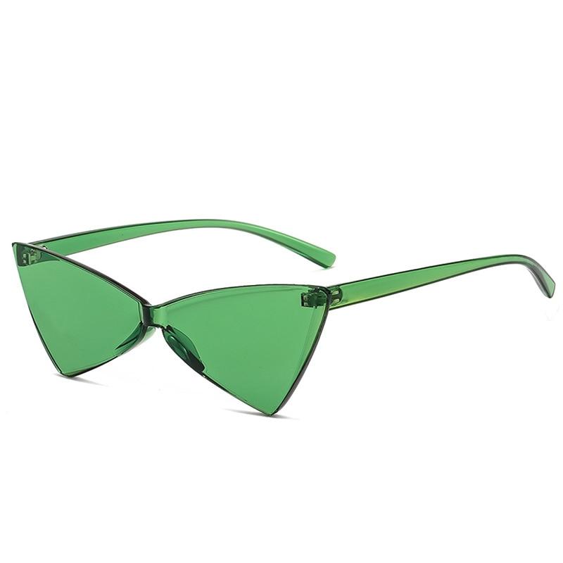 Женские солнцезащитные очки, фиолетовые, розовые, зеленые, синие, оранжевые прозрачные безрамные очки для праздника, 2019