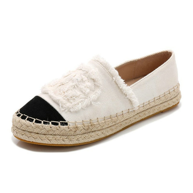 af8c9b65c6e2 New Fashion Comfortable Women Espadrilles Shoes flats slides ladies Casual  Loafers 2019 canvas shoes for Women fisherman s shoes