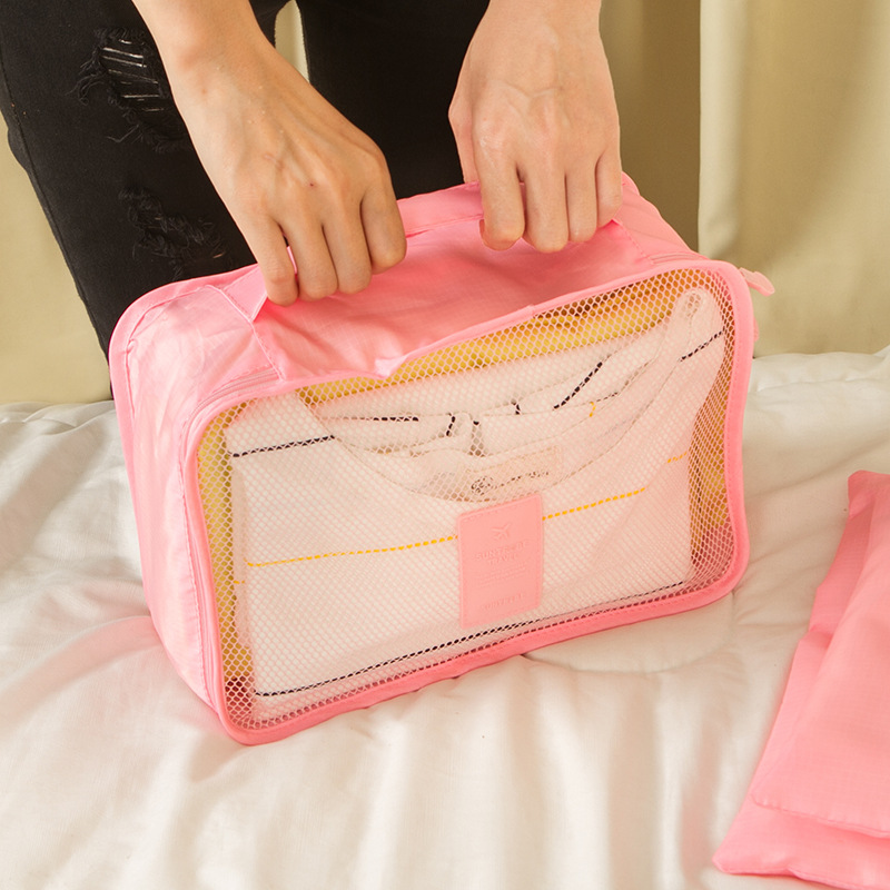 Luggage-Organizer Cosmetic-Bag Packing Travel Women for Clothing 6pcs/Set