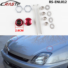 RASTP-1Pcs/set Car Styling Aluminum Push Button Billet Hood Pins Lock Clip Kit Quick for Engine Bonnets RS-ENL012