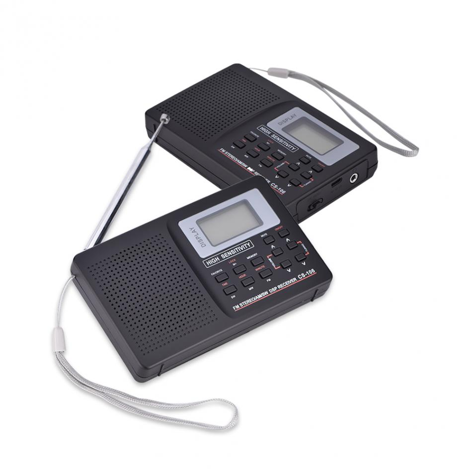 VBESTLIFE Portable Radio Support FM/AM/SW/LW/TV Sound Full frequency Radio Receiver Alarm Clock FM Radio Mini Radio