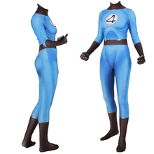 Adult Kids Invisible Woman Cosplay Invisible Cosplay Costume Zentai Superhero Bodysuit Fantastic Four Suit Jumpsuits BOOCRE корректирующее боди zentai cosplay