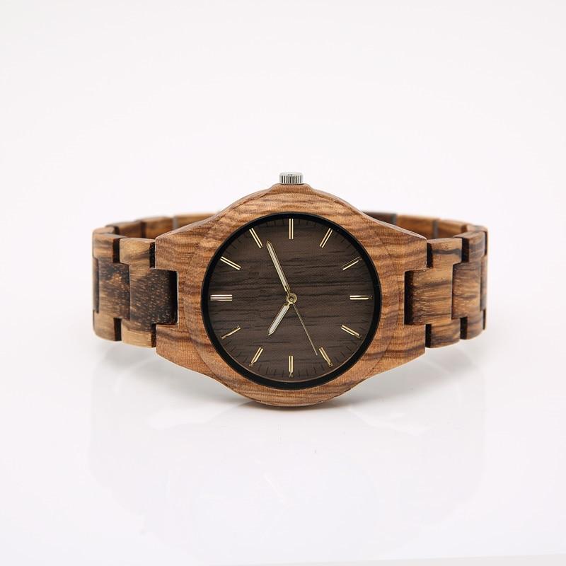 2018 Custom-made drewniany zegarek handmade dla mężczyzn specjalne - Męskie zegarki - Zdjęcie 3