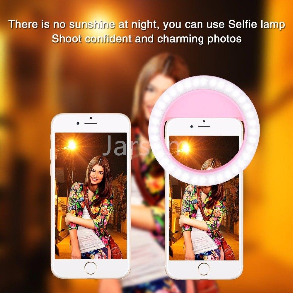 Selfie LED Ring Flash Light Portable Phone Selfie Lamp Luminous Clip Lamp Camera Photography Video Spotlight lens luz para movil in Mobile Phone Lens from Cellphones Telecommunications