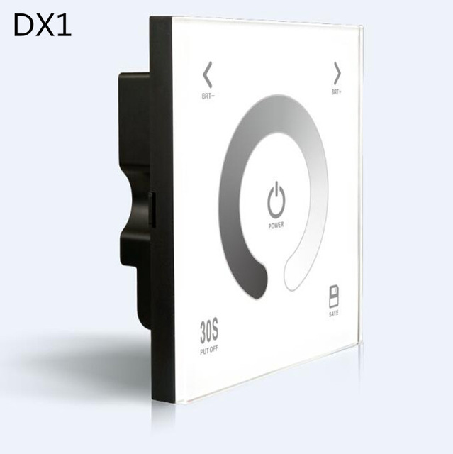 RF 2.4G+DMX512 DX1 Led DMX512 Dimmer Controller Glass Touch Panel Dimmer DMX Dimming 86 Wall Pannel DX1 dx5 led dmx dimmer led controller touch 100 240v 86 glass panel dmx512 multi zone dimming dimmer controlador wireless switch