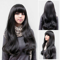 New Style Lady Sexy Fashion Fluffy Full Curly Wave Wig Long Black Hair Wig HB88