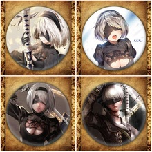 Anime Game NieR:Automata Display Badge Fashion Cartoon Figure Nier Automata YoRHa Brooches Pin Jewelry Accessories