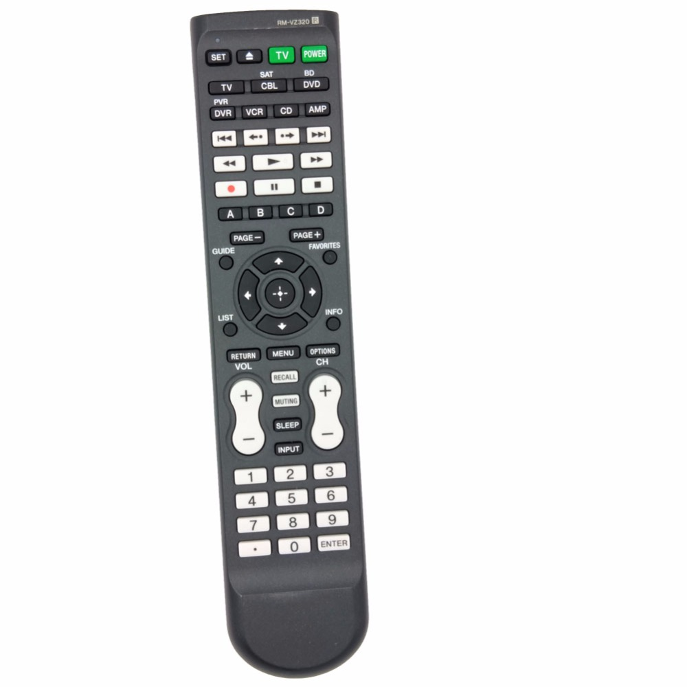 Universal RM-VZ320 Remote Control For SONY AV Receiver/Blu-Ray Disc Player/Cable Box/VCR/DVD / Combo Buttons chunghop rm l7 multifunctional learning remote control silver