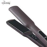Korean Fast Hair Straightener Wide Plate Ceramic Hair Straightener Dual Voltage Bivolt Chapinha Styling Tools