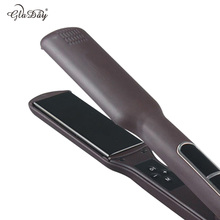 Big sale 1.5 inch tourmaline Ceramic Hair Straightener with 2 in 1 functions intelligent LCD hair straightening irons
