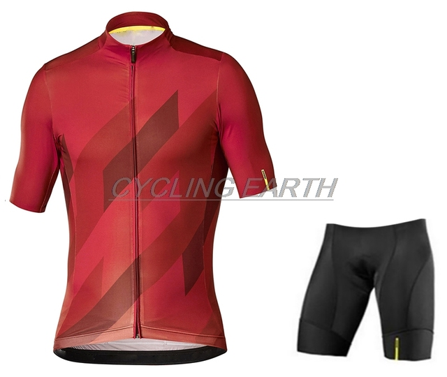 MAVIC 2019 Cycling team jersey pad Bike shorts set quick dry Ropa Ciclismo Mens pro bicycle Maillot Culotte wear shirt tops