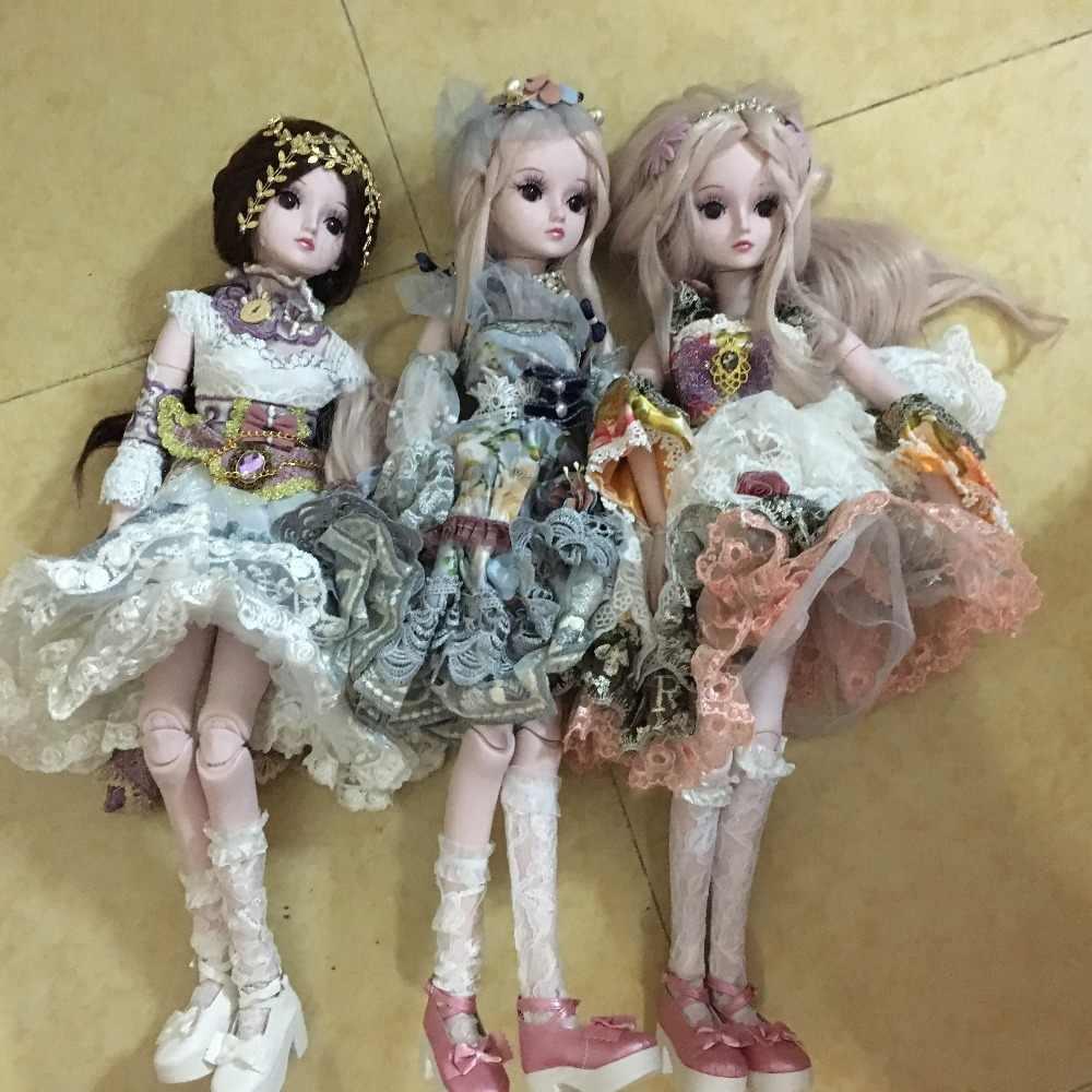 2018 yeni geliş Ücretsiz kargo cheapbargain p doris DEMI bebekler sıcak satış 60 cm çocuklar için hediyeler makyaj oyuncaklar elbiseler ile 1905