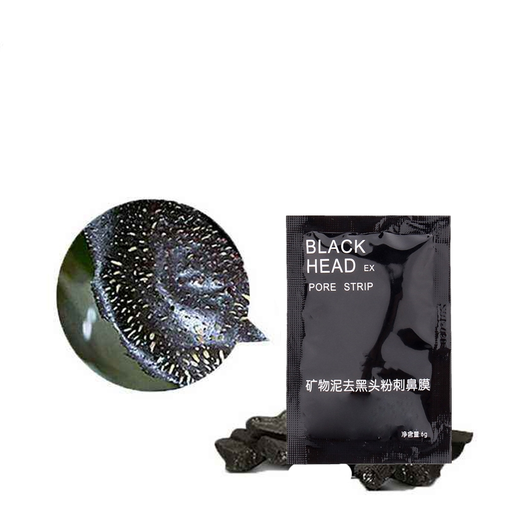 Quick Blackhead Removal Black Mask Face Nose Mask Cleansing Pores Contraction Cream Acne Treatment Pore Cleanser Wrapped Mask