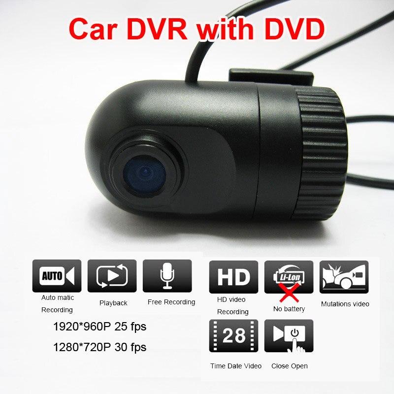 Мини широкоугольный HD 720P Автомобильный видеорегистратор с DVD разъемом видео и аудио рекордер видеорегистратор видео регистратор g сенсор