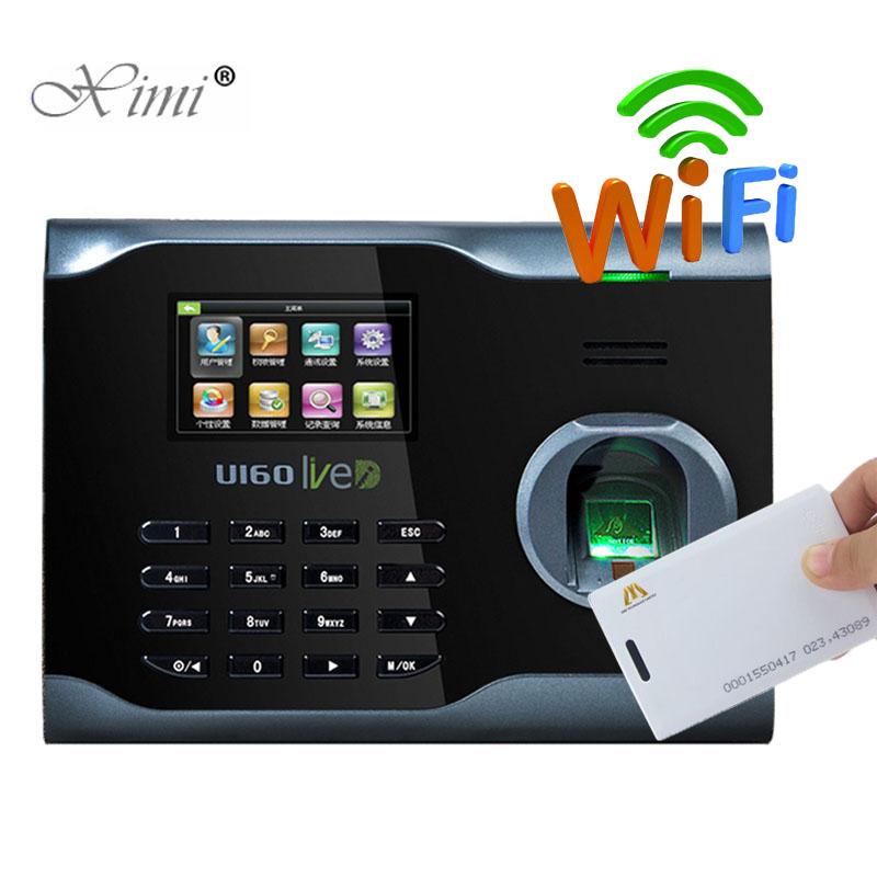 Good Quality ZK U160 WIFI TCP IP Fingerprint And RFID Card Time Attendance System Employee Attendance