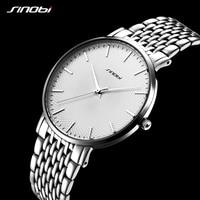 Sinobi Fashion Casual Ultrathin Man Watch Stainless Steel Watchbrand Mens Quartz Wrist watches relogio Clock masculino Rolexable