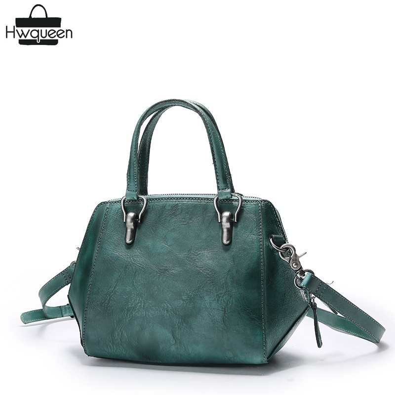 цена на Vintage Simple Designer Genuine Cow Leather Ladies Shell Bag Purse Women's Top handle Handbag Single Shoulder Bag Crossbody Bag