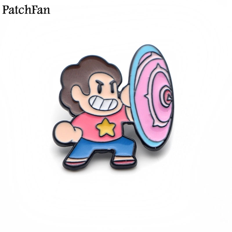 Apparel Sewing & Fabric Home & Garden Beautiful 20pcs/lot Patchfan Steven Universe Zinc Tie Cartoon Funny Pins Backpack Clothes Brooches For Men Women Hat Badges Medals A1263 Suitable For Men And Women Of All Ages In All Seasons