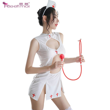 Nurse Uniform Sexy Lingerie Erotic Woman Costume Sexy Underwear Set Ladies Sex Underwear Slit Hollow Out Dress Intimate Lingerie