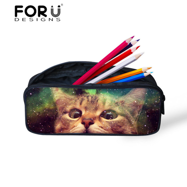 2c56fa6baadca Women Girls Cosmetic Makeup Bags Cat Trooper Galactic Space Pencil Case Box  Students Stationery School Kids Pen Pouch Box Bag
